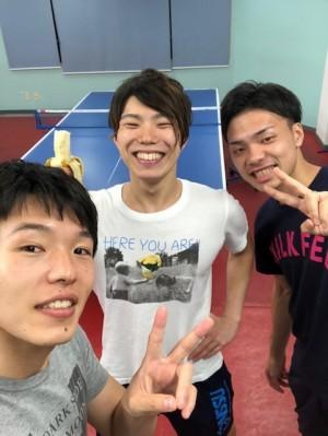 クニ卓 笠松コーチと舞鶴コーチ