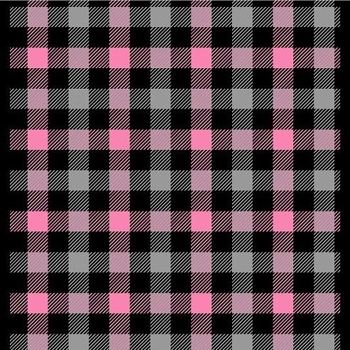 チェック柄ブラック×ピンク